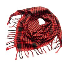 Atacado- Hot Women Men's Winter Warm Kerchief cachecol Unisex Plaid Tassels Wrap Shawl Arab Shemagh Keffiyeh Palestina Lenço Bufanda Y8043