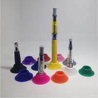 silikon e sigara stantları toptan satış-Silikon Baz Tutucu Ego Vape Pil Göstergesi Holding E Atomizer Enayi Için Renkli Renkli Sigara Clearomizers Fit Evod Piller