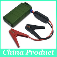 Wholesale Dual Battery 12v Car - V6 Anti-shock 10000mAh 600A Peak 8-12V Car Jump Starter Jumper Power Bank Battery Charger Reverse Polarity Protection Dual USB 010127