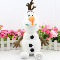 Wholesale Plush For Sale - 1PC Retail Frozen Olaf Plush Toys For Sale 30cm Cartoon Movie PP Cotton Snowman Stuffed Lovely Dolls Baby Toy Brinquedos For Christmas Gifts