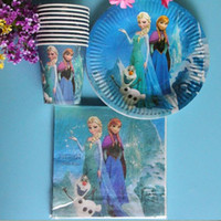 Wholesale Ella Wedding - Free Shipping 60pcs Anna&Ella Birthday Party Favor&Gift for Children Frozem Party Wedding Decoration Christmas Cups and Napkins
