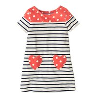 Wholesale Designer Clothes For Kids - Girls Dresses Spring Summer Designer Princess Dress For Girls Fashional Print Kids Dresses for Girls Clothes