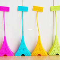 Silicone Rubber spice bags - Silicone Tea Bag Eiffel Tower Loose Infuser Strainer Herbal Spice Filter