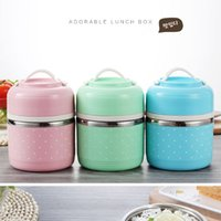 Wholesale Cute Food Containers - New Fashion Portable Cute Mini Japanese Lunchbox Leak-Proof Stainless Steel Thermal Lunch Boxes Kids Picnic Food Storage Container