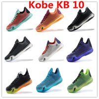 Wholesale Leather Shoes Nude Colour - More Colours Wholesale High Quality Kobe KB 10 X Elite Poison Green Sequoia Volt VINO Low Men's Basketball Sneakers Shoes drop shipping