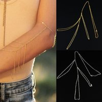 Wholesale-Fashion Arm Slave Harness Troddel-Ketten Ober Cuff Armband Armbinde Armband-Armband-Gold Silber 2 Farben Körper-0161