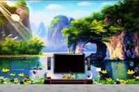 Wholesale Photo Nose - Custom 3d mural wallpaper TV backdrop Like nose mountain landscape of Guilin 3d photo wallpaper 20154843