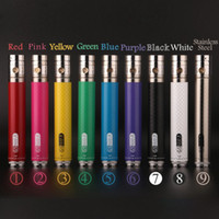 Wholesale Gs Twist - GS EGO II Twist 2200mAh battery variable voltage 3.3v-4.8v e cigarette battery for 510 ego thread atomizer