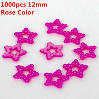 Wholesale Spike Phone Case - Five-point Star Shape 1000pcs 12mm Rose Color Imitation Pearls Flat Back Pearls Half Pearls For Nail Art Phone Case Decoration