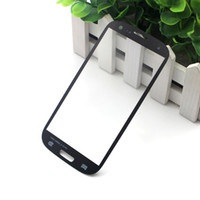 Wholesale S4 Lenses - 100PCS For Galaxy S4 i9500 Front Screen Glass Lens Digitizer Cover Black White Blue For Samsung Galaxy S4 i9500 i9505 i337 Free DHL