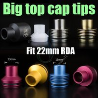 Wholesale hose mods online - Big top cap Drip tips enuff chuff POM aluminum stainless Resin Dripper for Mutation Atty dark hose mods vapor e cigarette atomizer dripping