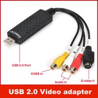 Wholesale Video Capture Converter - EasyCAP USB2.0 TV DVD VHS Video Audio AV Capture adaptor Converter support Win7 64bit