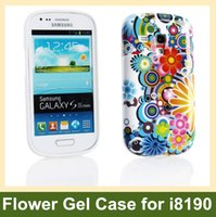 Wholesale S3 Mini Case Gel - Wholesale Chrysanthemum Flower Print Soft TPU Gel Cover Case for Samsung Galaxy S3 Mini i8190 Free Shipping