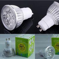 bombillas led led 4w al por mayor-10 unids / lote Envío Libre CALIENTE 4 W AC85-265V GU5.3 Lámpara de Proyector de Alta Potencia CREE LED Bombilla Downlight blanco frío / cálido