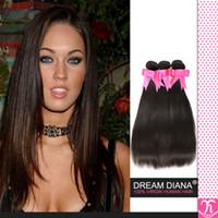 sıcak güzellik insan saçı toptan satış-Sıcak Güzellik Saç Brezilyalı Bakire Saç Düz Renk 1b 8a Sınıfı Bakire Işlenmemiş Insan Saçı Brezilyalı Bakire Saç 4 Demetleri Luvin Saç