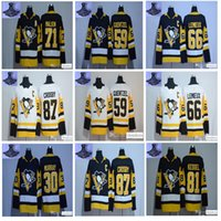 Wholesale Hockey Black Ice - 2017 Stanley Cup Champions Pittsburgh Penguins Hockey Jersey 87 Sidney Crosby 81 Phil Kessel 71 Evgeni Malkin 59 Jake Guentzel Jerseys