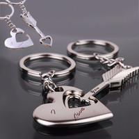 flechas de graça venda por atacado-Liga Chaveiro Cupido seta casal amantes da cadeia chave pingente chaveiro chaveiro para os amantes frete grátis BY0000