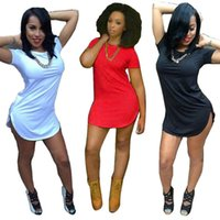 Wholesale plus size bandage dresses - Wholesale-2016 Sexy Mini Club Party Dresses Women Irregularity Dress Summer Style Bandage Bodycon Beach Dress Plus Size Vestidos free ship