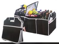Wholesale Folding Trunk Organizer - Car Seat Organizer Trash Bin AUTO Trunk Cargo Collapsible Storage Black Folding Zakka Boxes Sundries For Organiser Box