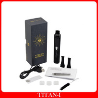 Wholesale Electronic Cigarette Herb Chamber - Titan I Vaporizer Dry Herb Heating Chamber Atomizer Dry Herb Pen Vapor 2200mah Battery Electronic Cigarette