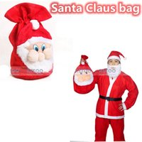 Wholesale Santa Claus Backpack - 2015 Santa Claus bag Chrismas Gift Bag X-mas Backpack Cartoon Santa Claus Super Soft Sack Christmas Candy Bag drawstring 45*36cm SD-38