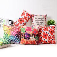 Wholesale Petal Car - modern bright colors cushion cover flower bloom funda cojin cojines petals dots throw pillow case for car sofa