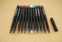 kalem göz farı toptan satış-Makyaj Su Geçirmez Renkler Eyeliner Göz Farı Astar Kalem Otomatik Döner Çok Amaçlı kalem Bir Paket Içinde 12 Farklı Renk