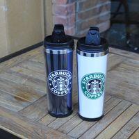 кофейные кружки оптовых-2016 кофейные чашки Starbucks двойной стены кружка кофе набор мода Кубок один выбрать Кубок черный Starbucks чашки в наличии бесплатная доставка термос