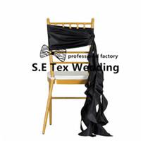 hochzeit stuhl schärpe taft großhandel-Großhandelspreis Taft Chiavari Stuhl Sash \ Wickle Stuhl Bogen Für Hochzeitsdekoration
