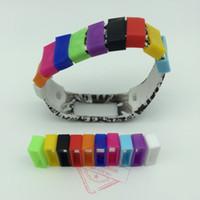 pulsera de engranaje al por mayor-Sujetadores de silicona Anti-gota pulseras de bloqueo seguro para Garmin Vivofit pulsera para samsung Gear Fit envío gratis