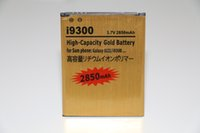 Wholesale High Capacity Battery Galaxy Ace - High capacity 2450mah 2800mah 3100mah gold battery for Samsung Galaxy S2 S3 mini I8190 S4 S5 S6 Edge Plus I9190 ACE A5 A7 Note 2 3 4 5 I9600