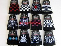 Wholesale Nightmare Before Christmas Gloves - New Sale 10 Pair Skull nightmare before Christmas Fingerless gloves Children's Christmas gift