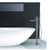 nouveaux robinets design achat en gros de-En gros Et Au Détail NOUVEAU Design Chrome En Laiton Monté Au Sol De Douche Robinet De Bain De Remplissage Mélangeur De Robinet De Douche