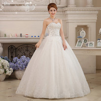 Wholesale Korean Fashion Wedding Gowns - Hot Sale New Spring And Summer 2015 Sweetange Fashion girl Latest Korean Luxury Diamond Bra Straps Wedding Bride Dress Elegant Wedding Dress