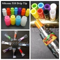 Wholesale Wholesale Rubber Thread - Silicone Mouthpiece Cover Rubber Drip Tip Silicon Disposable Colorful Test Tips Cap Individually Package For 510 thread atomizer tank vape
