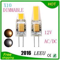 proyectores de 12v dc al por mayor-Bombilla de luz LED G4 AC / DC 12V 110V 220V 6W 9W COB SMD Las luces de iluminación LED reemplazan a la lámpara de luz halógena