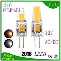 Wholesale G4 6w Led - LED G4 Lamp Bulb AC DC 12V 110V 220V 6W 9W COB SMD LED Lighting Lights replace Halogen Spotlight Chandelier