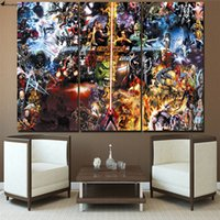 Wholesale 3pcs Oil Painting - Justice league Final War Marvel 3pcs,Modern Abstract Canvas Oil Painting Print Wall Art Decor for Living Room Home Decoration