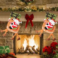 Wholesale Christmas Presents Ornaments - Santa Claus Snow Man Xmas Stocking Christmas Tree Ornament Creative Hanging Stocking Present Bag 19 Inch