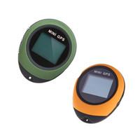açık gps pusulası toptan satış-PG03 Mini GPS Alıcısı Navigasyon El Yer Bulucu USB Şarj Edilebilir Açık Spor Seyahat için Pusula ile Yeşil / Sarı