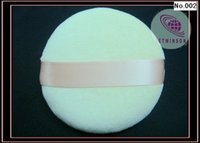 Wholesale Velour Powder Puffs - FREE SHIPPING FACE VELOUR POWDER FACIAL PUFF SATIN RIBBON 8cm