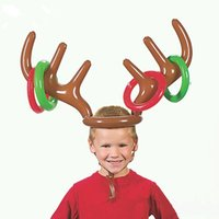 Wholesale Inflatable Outdoor Christmas Decorations - Christmas Cute Deer Head Shape Ferrule Game Tools For Kids Inflatable Toys Balloons Party Birthday Decoration Outdoor Game Toys B11