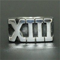 Wholesale Roma Ring - 1pc Newest Design Cool XIII Roma Number Ring 316L Stainless Steel Fashion Jewelry Men Boy Punk Band Party Ring