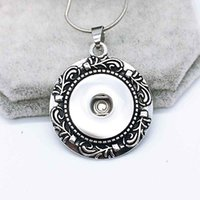 Wholesale One Direction Pendants - Hot Sale High Quality 020 Snap Button Pendant Necklace Fit 18mm Buttons For Women Charm Interchangeable jewelry keychain one direction
