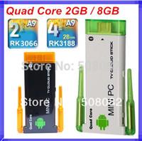 Wholesale Cx 919 Android Quad Core - Double root wireless antenna CX-919II CX-919 II J22 Bluetooth Mini PC Android TV box Wifi 2GB RAM 8GB Rk3229 Quad Core Cortex-A9