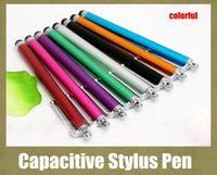 Wholesale Capacitive Multi Touch Screen Stylus - Stylus Pen Capacitive Touch Screen For Tablet iPod iPad cellphone iPhone 4S 4 5 5s Sensitive Touch Pen Light Multi Color DHL Free STY002