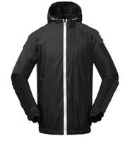 erkekler ince pullu toptan satış-Yeni ADI 3 renk 3 stripes Erkek ceketler yonca Güz ince windrunner Kazak Hoodies ışık Windbreak Ücretsiz kargo fermuar trefoil hoodie