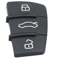 ingrosso tasti di gomma fob chiave-KLA Nuovo per Audi Sostituzione Gomma Pad Remote Key Keyless Fob per 3 Button Switchblade Flip