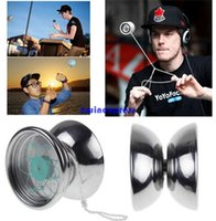 Wholesale Earing Steel - Professional Stainless Steel Magic YoYo Ball toys earing String Trick Yo-Yo Toy christmas party gifts for Kids Children