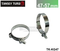 Wholesale Performance Turbochargers - Tansky - 1 Pair   unit High-performance (47MM-57MM) SILICONE TURBO HOSE COUPLER T BOLT SUPER CLAMP KIT (TK-KG47).